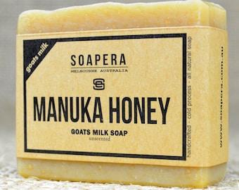 Manuka Honey Goats Milk Soap- made from fresh Australian Goats Milk and New Zealand Manuka Honey, - Soap Era all natural handmade Soap