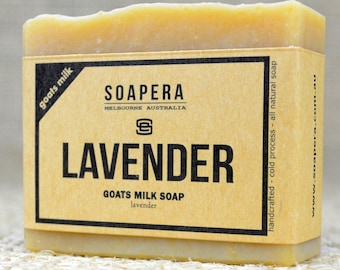 Lavender Goats Milk Soap- made from fresh Australian Goats Milk and nutritious macadamia oil, - Soap Era all natural handmade Soap