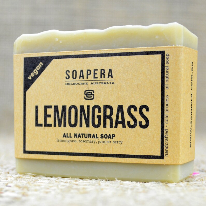 Free Postage Lemongrass Scented Soap Cold Process Soap.