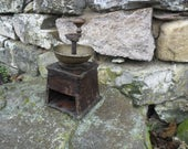 Antique Coffee Grinder - Wood with Cast Iron Handle