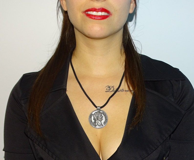 Symbol,Exquisite Author/'s Jewelry.Unique Handmade Locket Roman Coin Pendant,Medallion Ancient Roman Emperor/'s Hadrian Pendant,Necklace