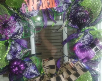 Bewitched Halloween Wreath