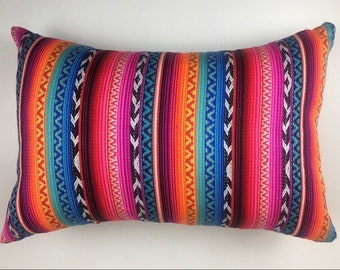 Unique Aztec boho cushion cover, Mexican Poncho throw pillow cover, Modern soft woven cotton cover, Gypsy cushion covers Made in Australia