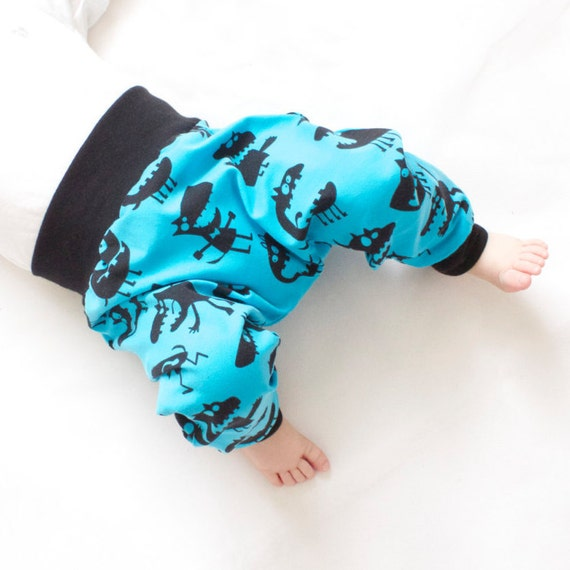 Monster Harem Pants Monster Baby Leggings Kids Leggings Etsy