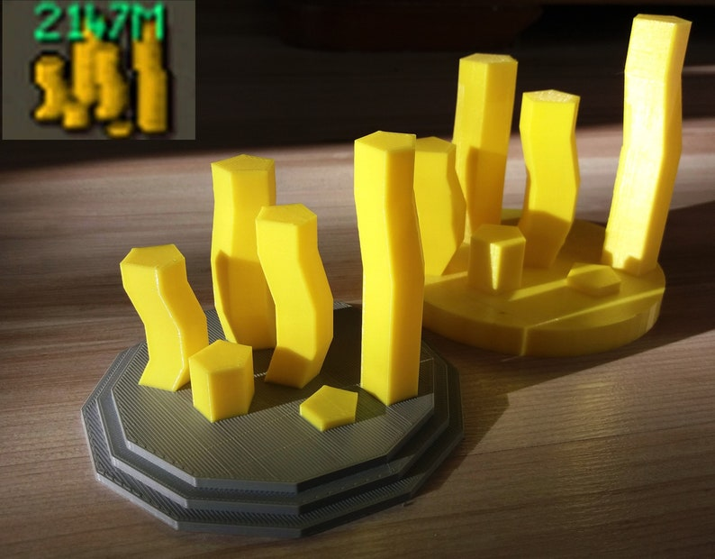 Runescape | Gift for him | Max Cash Stack OSRS / Runescape 3 | 3D printed |  Meme | Gift for Him | Rpg | Gaming
