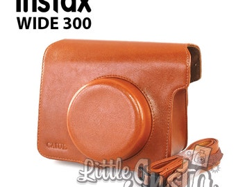 Brown Fujifilm Instax Wide 300 Camera Bag Protection Case.