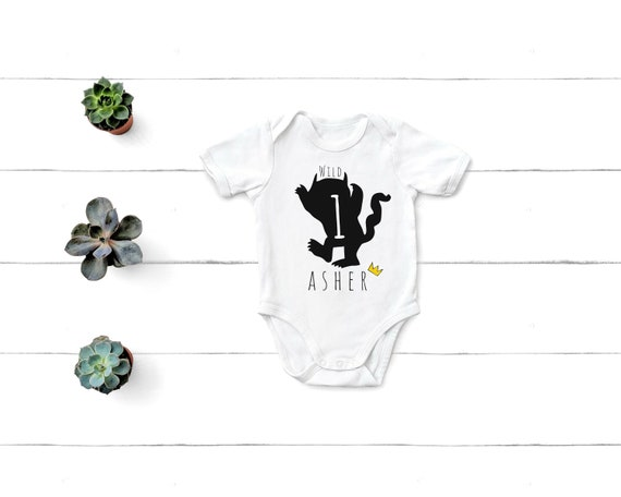 Baby Born Year Elephant Embroidered Baby T-Shirt Gift Personalised Unisex