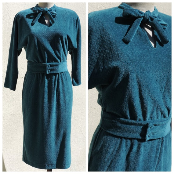 Vintage Jeanne Lanvin 70s New Old Stock Couture Dr