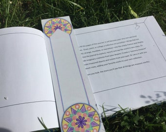 Unique bookmark-artistic bookmark-mandala bookmark-spiritual bookmark-positive energy bookmark-original artwork bookmark-one of a kind