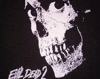 Evil Dead 2 PATCH canvas screen print - Horror / Bruce Campbell / Sam Raimi / Dead by Dawn