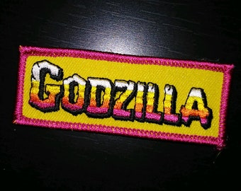 GODZILLA - Embroidered PATCH - Kaiju - Monster/Horror, King of the Monsters