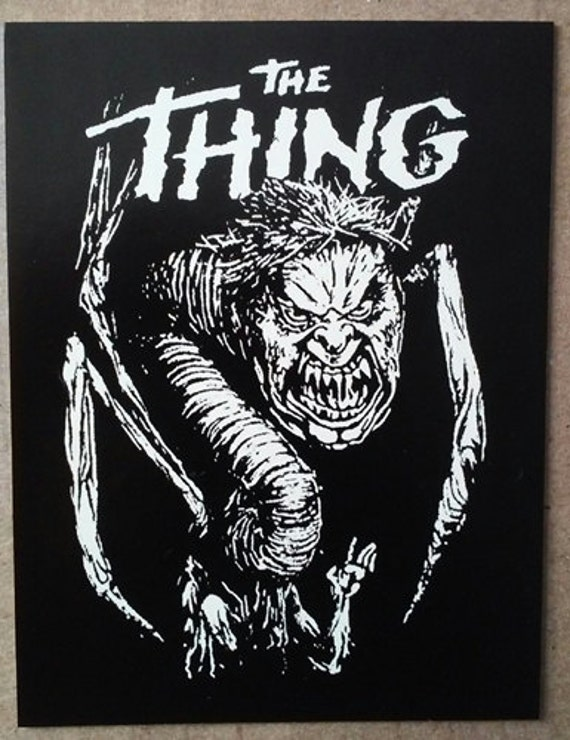 The Thing Sticker Vinyl Horror Sci Fi John Carpenter Kurt Etsy