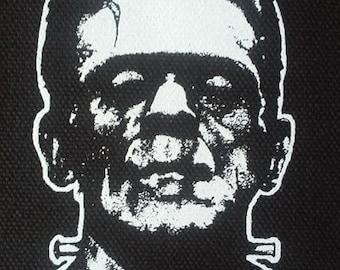 Frankenstein PATCH canvas screen print HORROR - Boris Karloff Universal Monsters