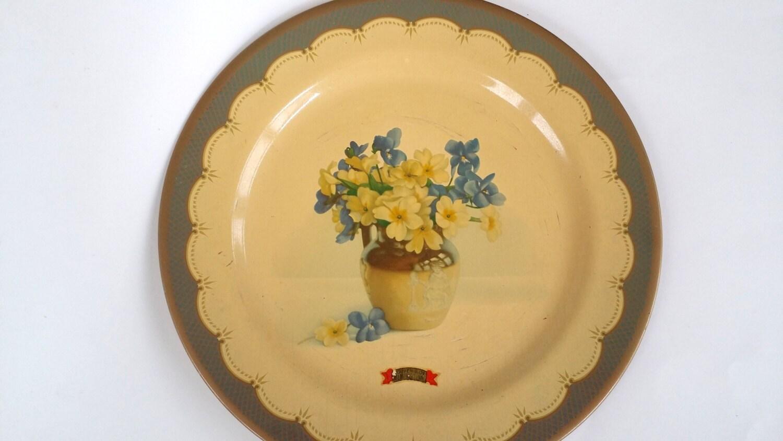Baret Ware Primroses and Violets Plate Memphis TN Souvenir | Etsy