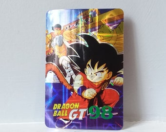 90s Dragon Ball Z GT Sticker Holographic Vintage~ Gohan ~ Prismatic Trading Card Style