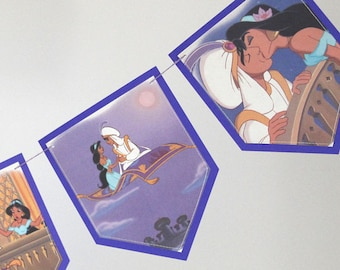 Aladdin Magic Carpet Ride - Recycled Book Bunting - Nursery or Party Decoration