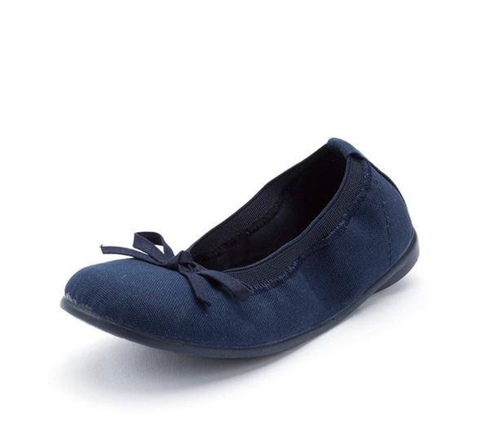 dark navy ballet flats with bow, girl shoes, toddler shoes, walker shoes, walker shoes for babies, girls ballet flats, baby shoe