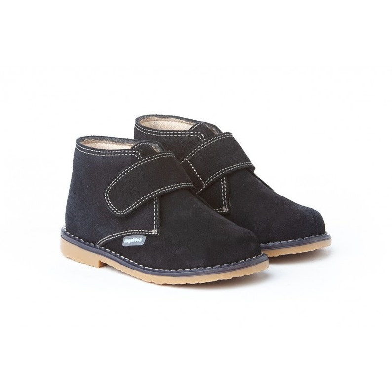 Suede Boots in Navy image 0
