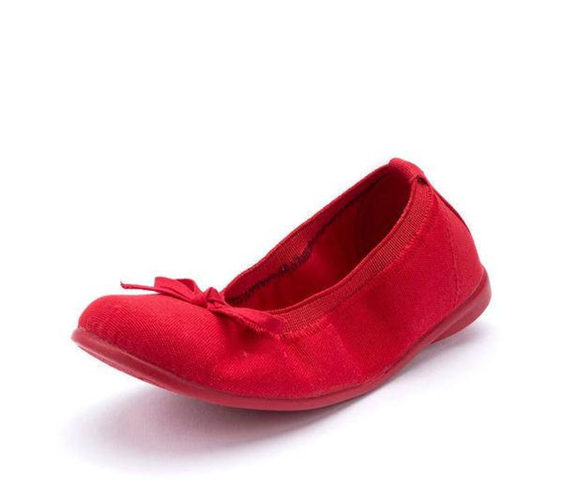 9548d26da14 Red Ballet flats with bow girl shoes toddler shoes walker