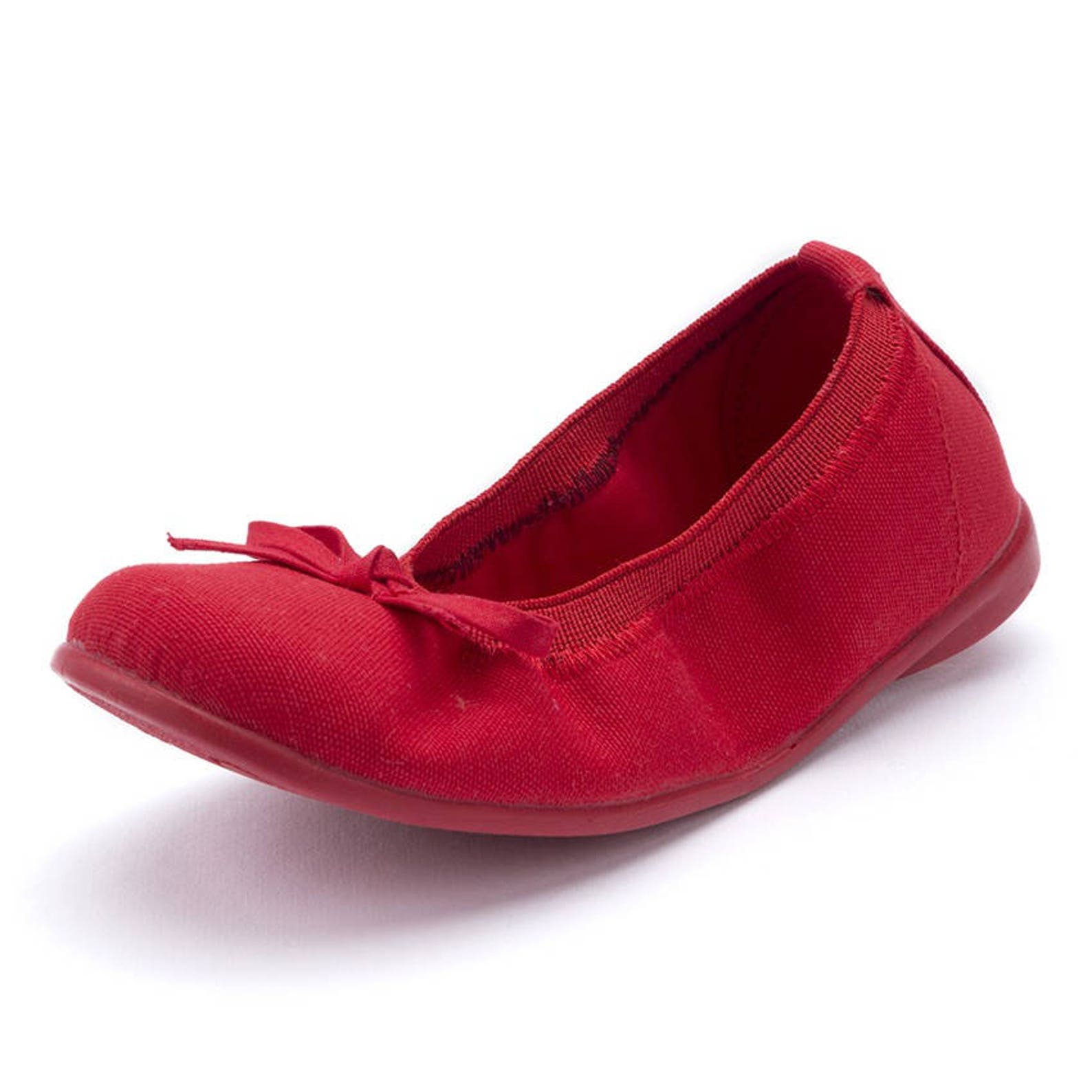 red ballet flats with bow, girl shoes, toddler shoes, walker shoes, walker shoes for babies, girls ballet flats, baby shoes