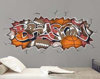 Wall Decals Graffiti Etsy