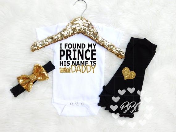 il est papa brodé Baby Gilet Cadeau Papa Père jour J/'ai trouvé mon Prince