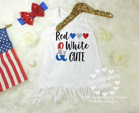979bc15d0 Baby Girl Clothes Baby Girls Dress Red White Cute Fourth of