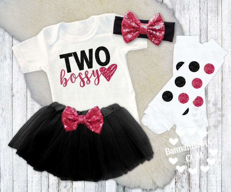128d47a3f190 2nd Birthday Girls Birthday Clothes TWO Bossy Boss Baby
