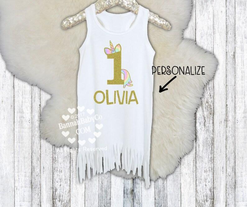 1ef4601bb Girls Unicorn Birthday Personalized Unicorn Dress Baby | Etsy