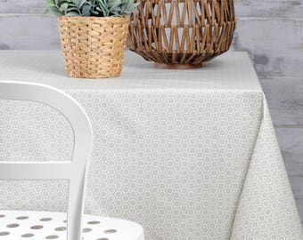 CLASSIC NATURAL Rectangle French Tablecloths   French Oilcloth Indoor  Outdoor Coated Wipable Tablecloth   French Table Decor Lovers Gifts