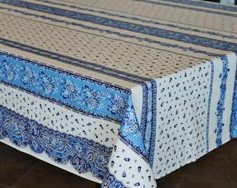 French Provence Marat TRADITION WHITE Rectangle Cotton Tablecloth   French  Home Decor   Table Decor Gifts   Matching Napkins Available