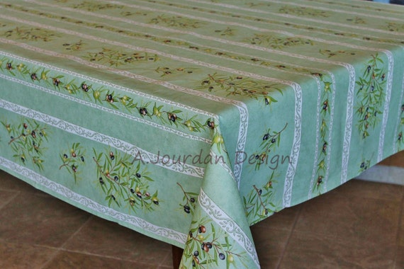 French Provence PETITE OLIVE GREEN Rectangle Tablecloths | Etsy