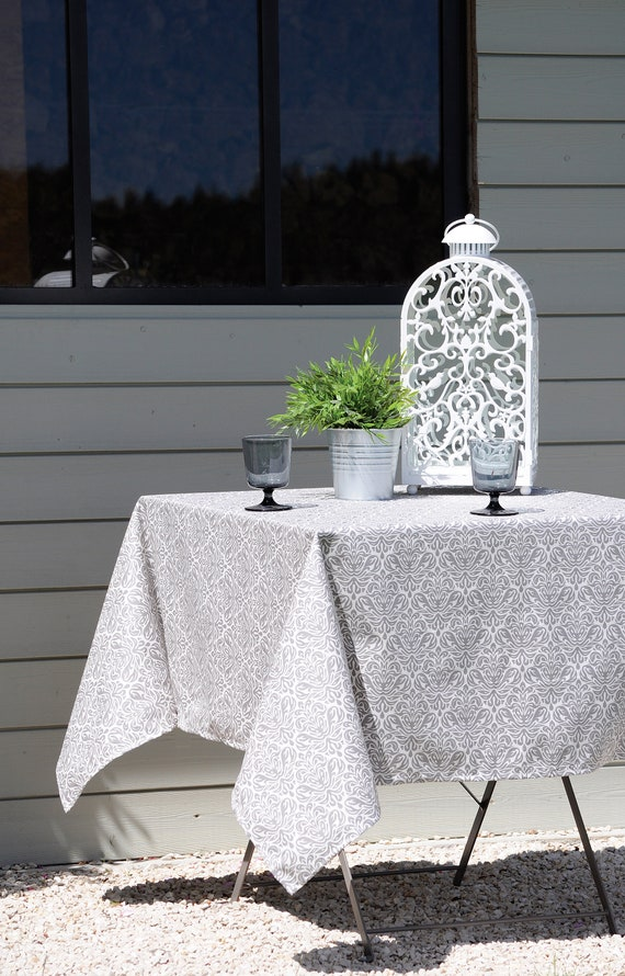 French Provence CHIC GRAY Rectangle Tablecloths French   Etsy