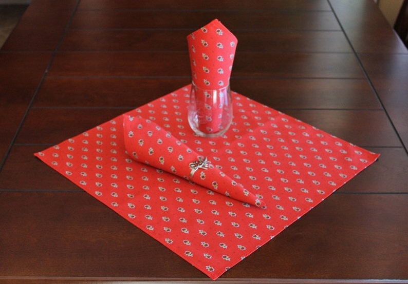 AVIGNON RED French Provence Round Cotton Tablecloths Party Decor Gifts Provence Tablecloth Home Decor French Country Table Decor