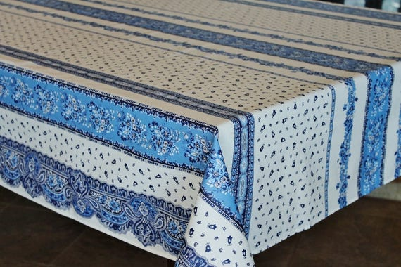 French Home Decor Table Decor Gifts French Provence Marat TRADITION WHITE Rectangle Cotton Tablecloth Matching Napkins Available