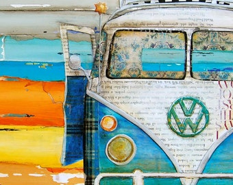 5691f1c9eee VW Camper Van Glossy Poster - Choose Your Size - Includes a Free Surprise  A3 Poster (1)