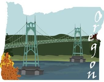 Oregon: St John's Bridge