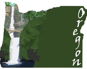 Oregon: Multnomah Falls