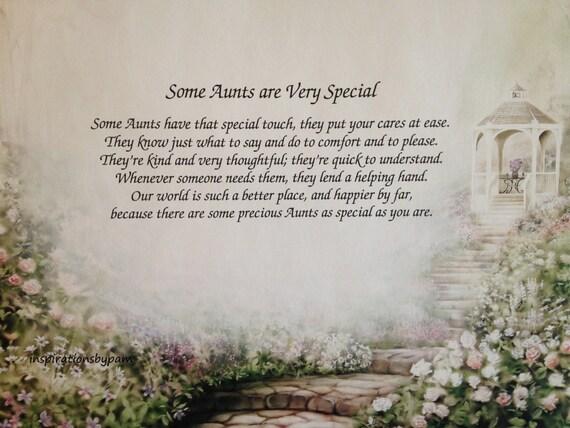 Verwonderend Gepersonaliseerde tante Art Print met gedicht-inspirerende | Etsy FW-02