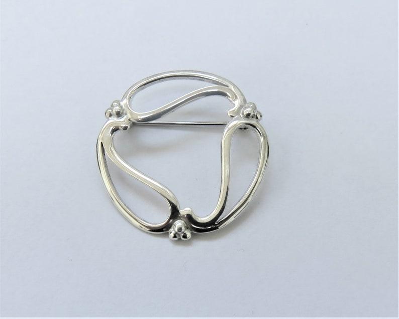 Ola Gorie Silver Heart Celtic Earrings Gift Scottish