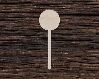 Lollipop Tags Ornaments Laser Cut #1702 Candy Silhouette Wooden Cutout Shape