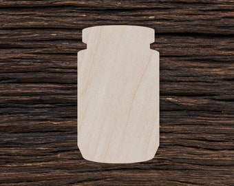 3,5cm Wooden Jar Shapes Cutout Craft Gift Tags Decoration Ornament Gift Packaging MG000632 10pcs