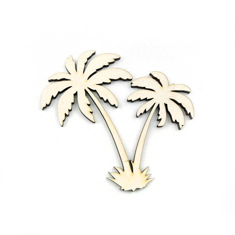 Palm Trees Palm Forest Palm Laser Cut Palm Leaves Wooden Palm Tree Shape For Crafts And Decoration