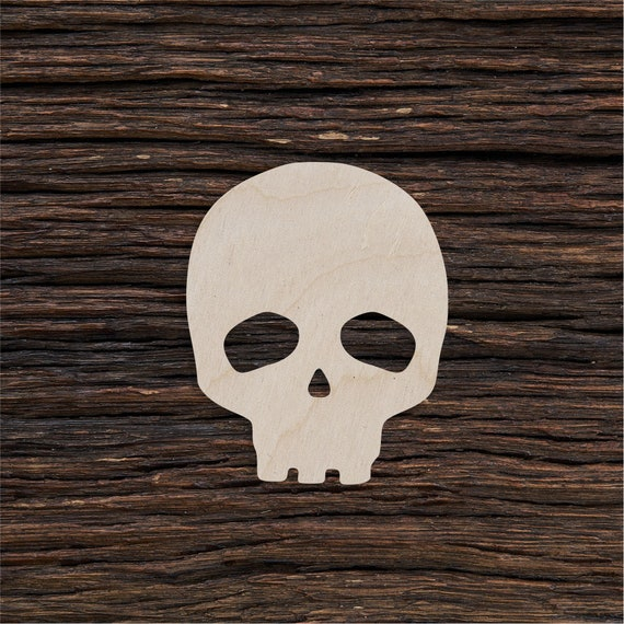 10pcs Unpainted Blank Skull Skeleton Woman Man Wooden Labels Gift Tags