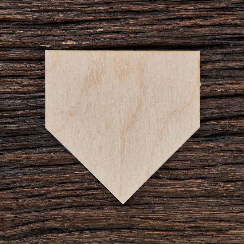Wooden Home Plate Shape For Crafts And Decoration Laser Cut Home Plate Sign Baseball Home Plate No Place Like Home Home Decor