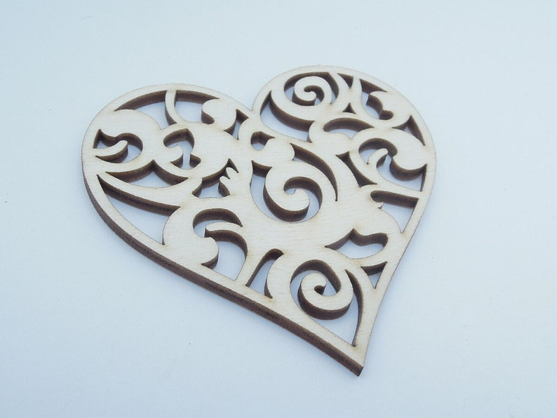Rustic Wooden Hearts Love Heart Wooden Heart Decorated for Valentine Day 00018 for Decoration Wedding Hearts Laser Cut