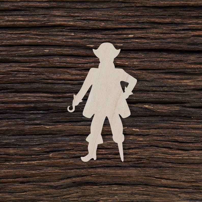 Wooden Pirate for Crafts and Decorations Pirate Pendant Pirate Magnet Pirate Necklace