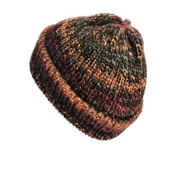 97107639241 Multi coloured hat fisherman beanie with brim soft vegan
