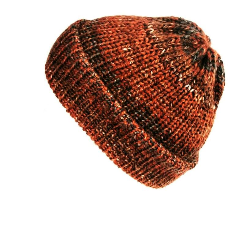 255b036f1dc Burnt orange beanie trawler beanie cuffed beanie hat soft
