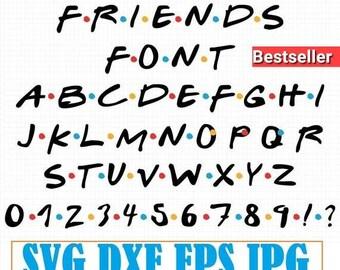 Friends font | Etsy